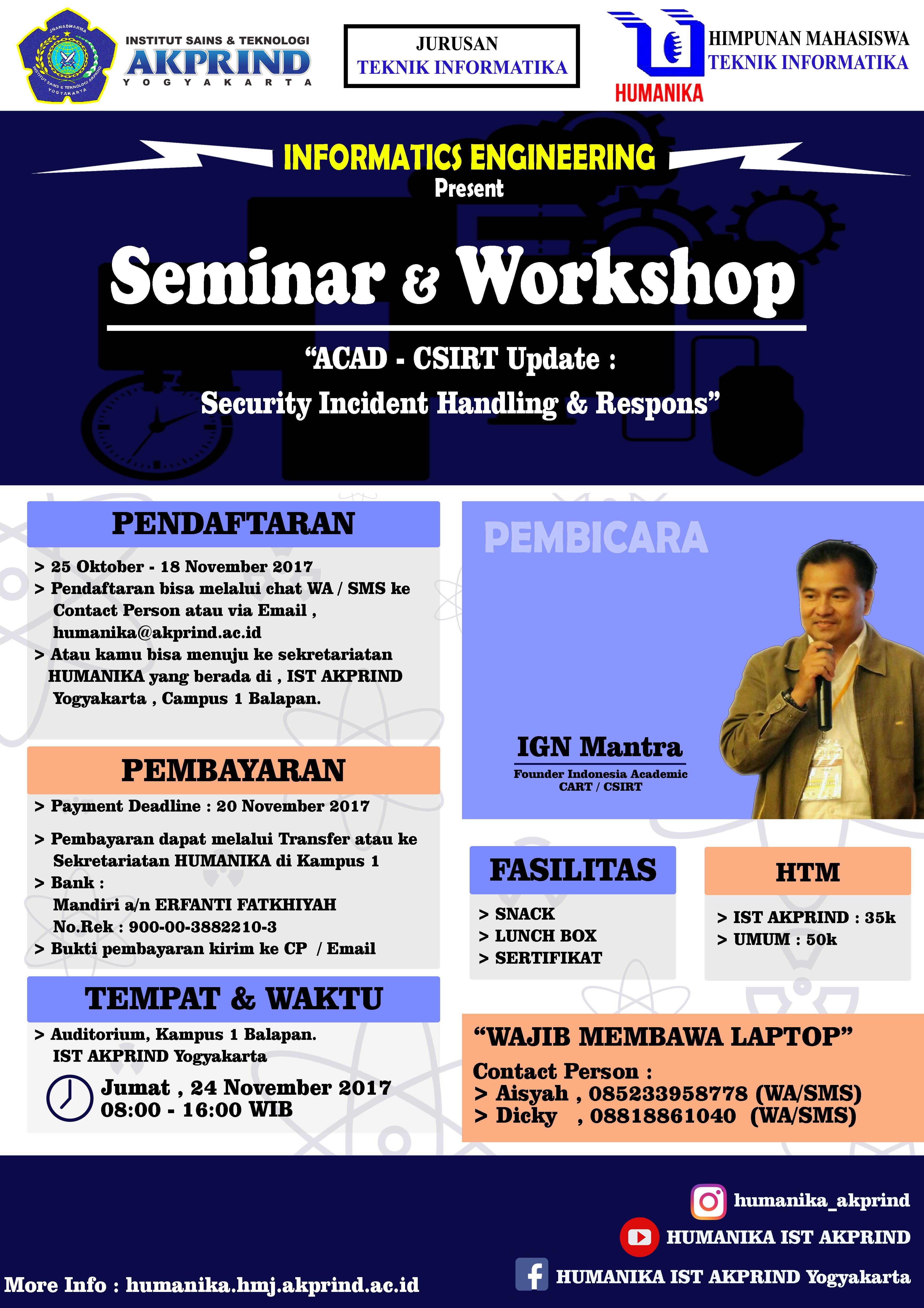 Poster Seminar ACAD CSIRT