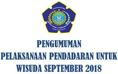 Pengumuman Pelaksanaan Pendadaran Untuk Wisuda September 2018 T.Informatika IST AKPRIND YOGYAKARTA