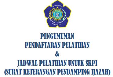 Pendaftaran Pelatihan & Jadwal Pelatihan SKPI (Surat Keterangan Pendamping Ijazah)