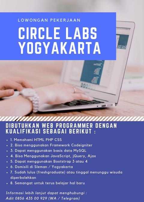 Lowongan Pekerjaan (Circle Labs Yogyakarta)