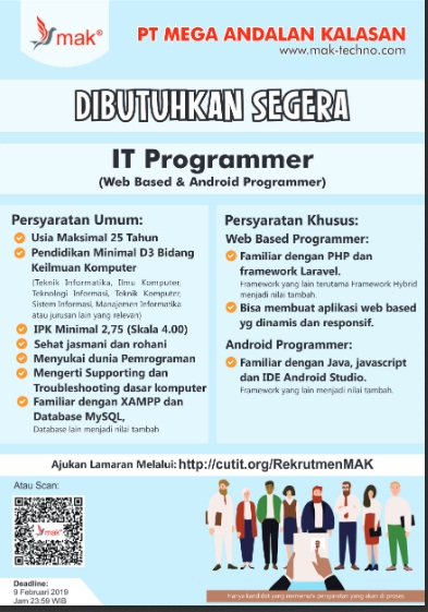 Lowongan di bidang IT Programeer (Web Based