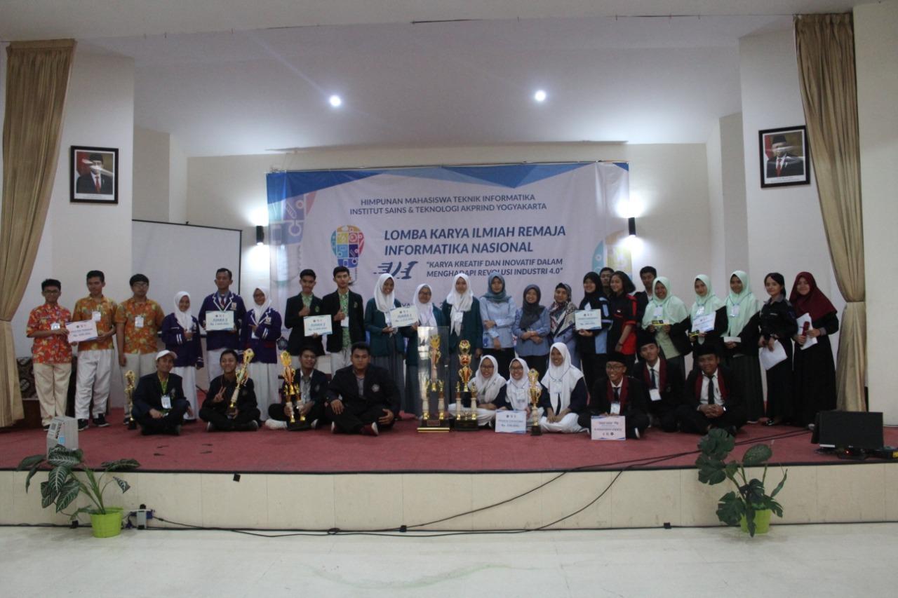 """Lomba Karya Ilmiah Remaja VI Informatika Nasional dengan tema """"Karya Kreatif dan Inovatif Dalam Revolusi Industri 4.0"""""""