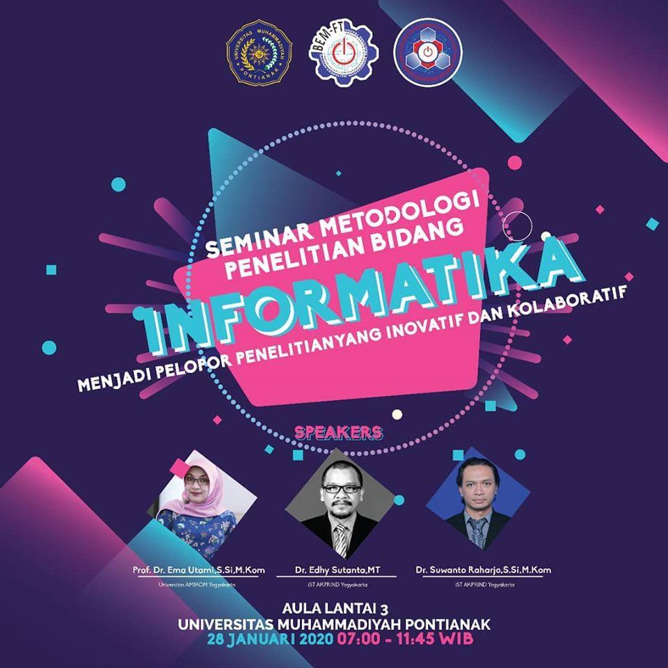 Seminar Metodologi Penelitian Bidang Informatika