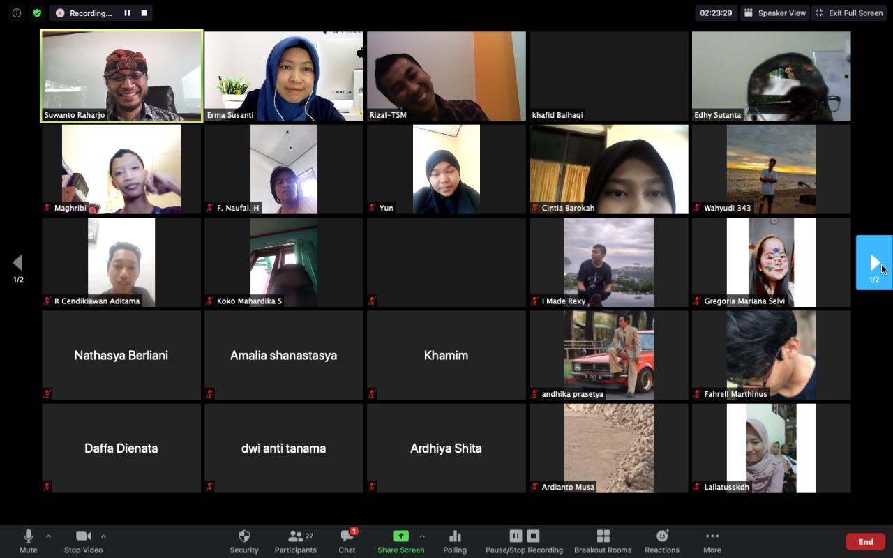 Webinar Informatika : Prospek Kerja Bidang Informatika – Hadirkan alumni owner PT Penta Media Informasi – Solo