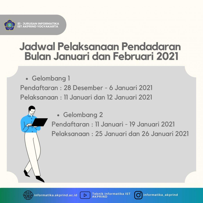 Jadwal Pelaksanaan Pendadaran Bulan Januari – Februari 2021