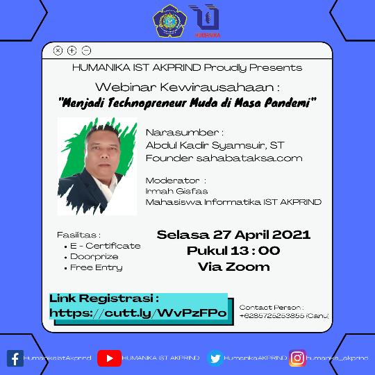 Himpunan Mahasiswa Informatika IST AKPRIND Proudly Presents
